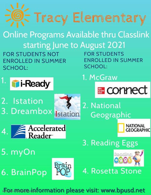 Online Summer Programs Currently Available to Tracy Students Featured Photo