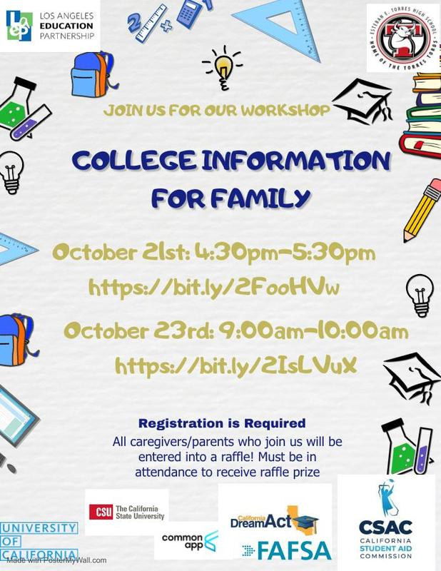 COLLEGE INFORMATION FOR FAMILIES Featured Photo