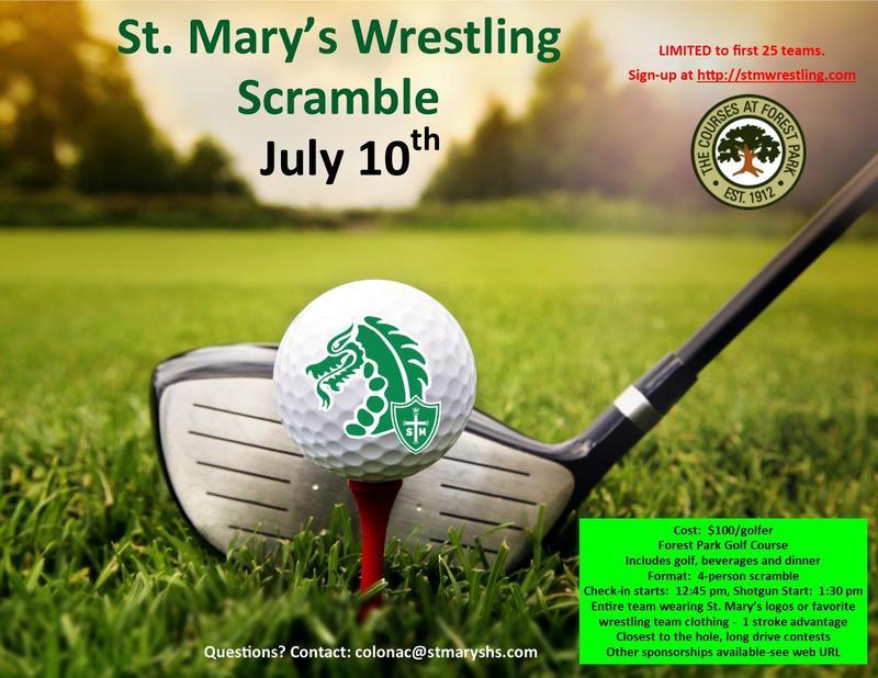 St. Mary's Wrestling Scramble:  July 10th