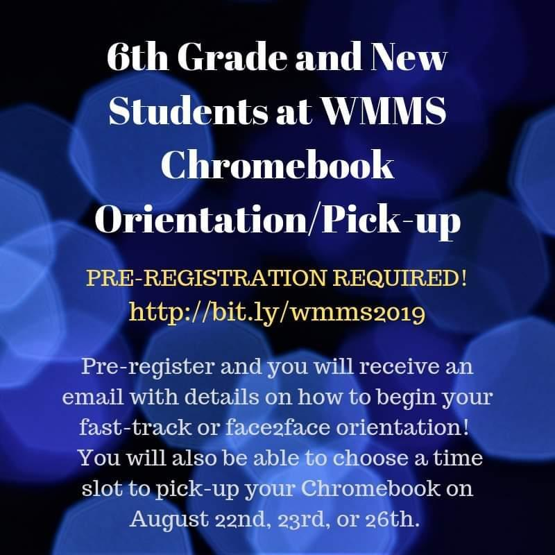 Directions for Chromebook pickup