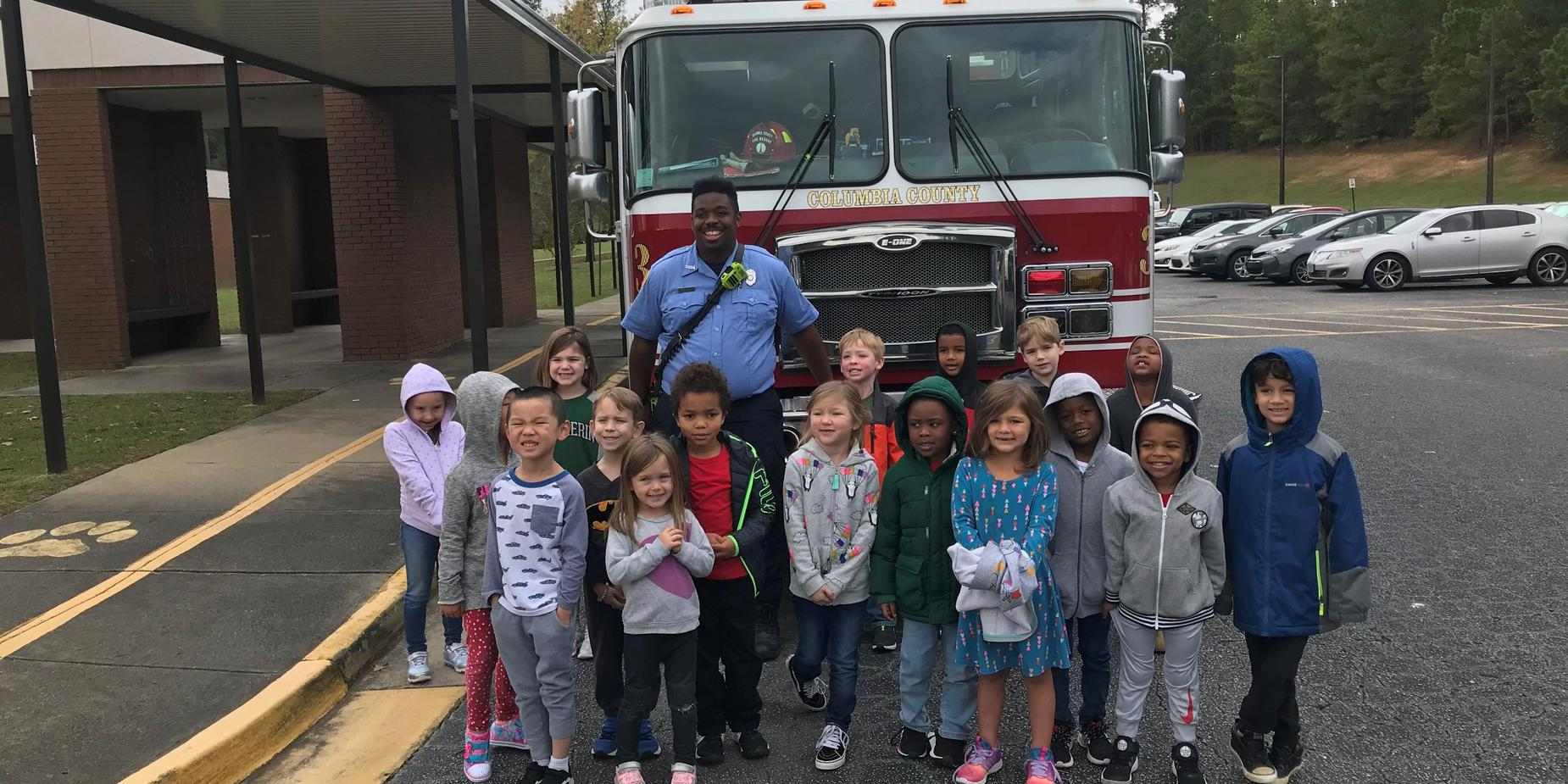 Columbia County Fire Truck visits BRE!