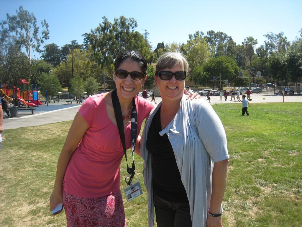 Marguerita staff together during the PTA/ASB Community Building Picnic