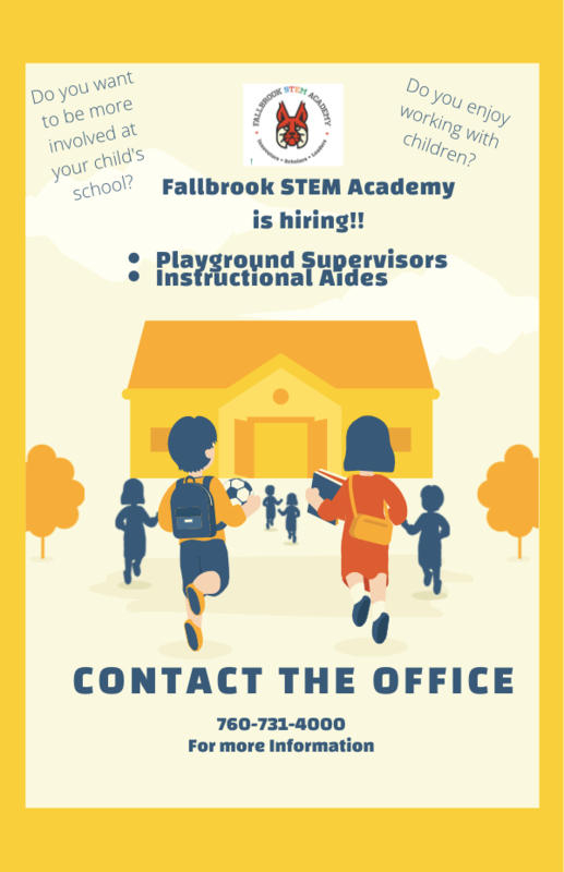 Fallbrook STEM Academy is Hiring! Featured Photo