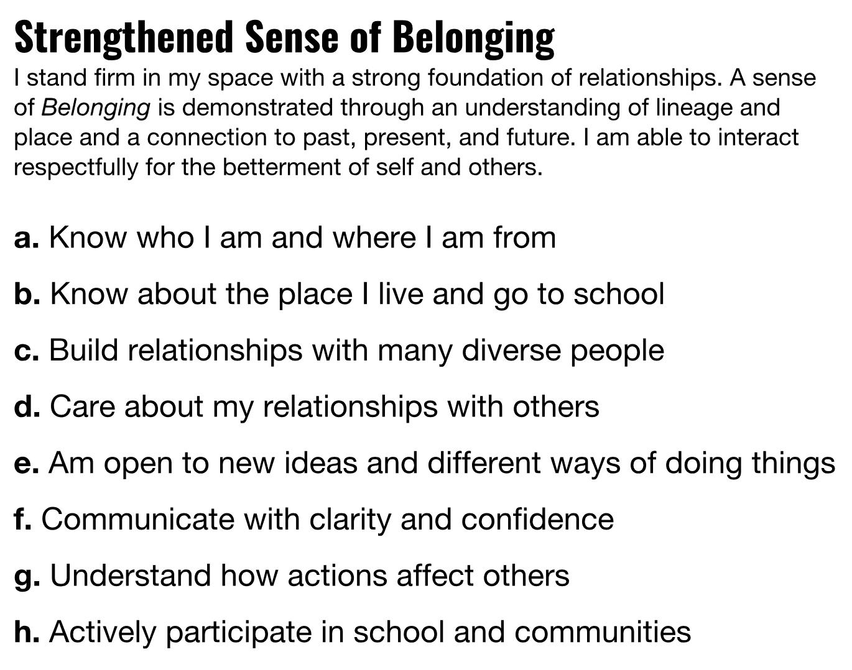 Strengthened Sense of Belonging