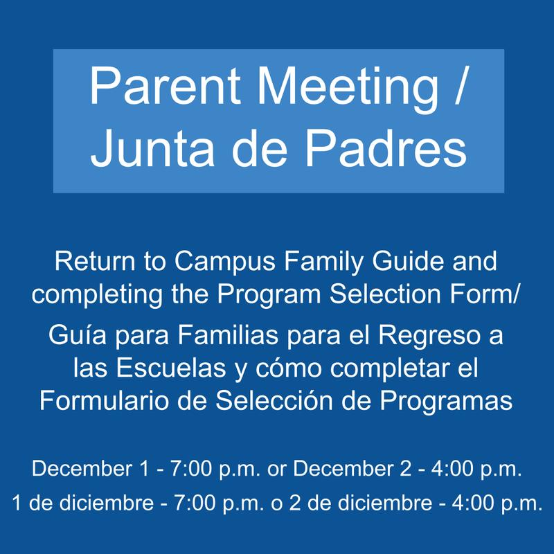 Parent Meeting / Junta de Padres Featured Photo