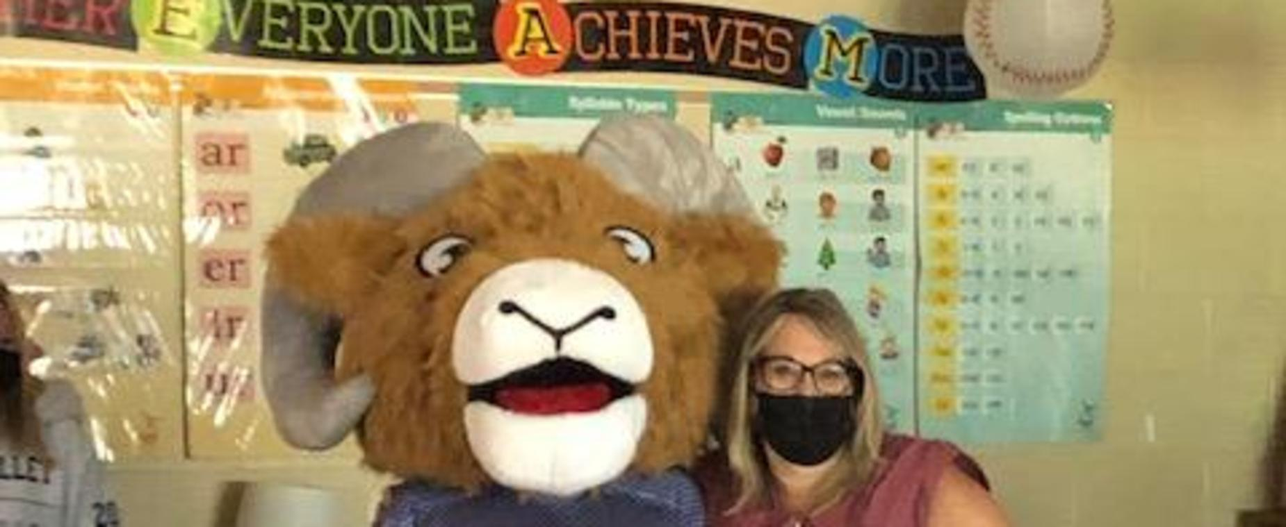 Bo and Mrs. Smith get excited about PBIS!