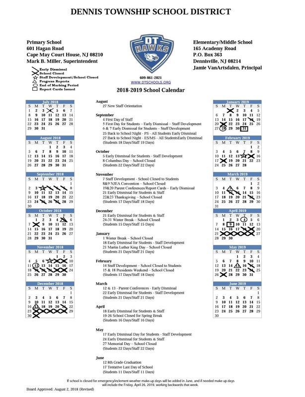 18-19 District Calendar Thumbnail Image