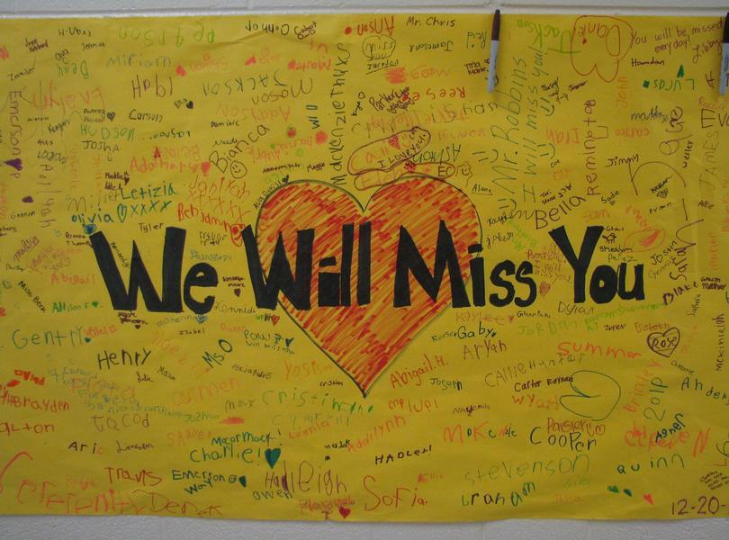 Mrs. Whitehurst is retiring ... Friendship's Community wishes her the very best
