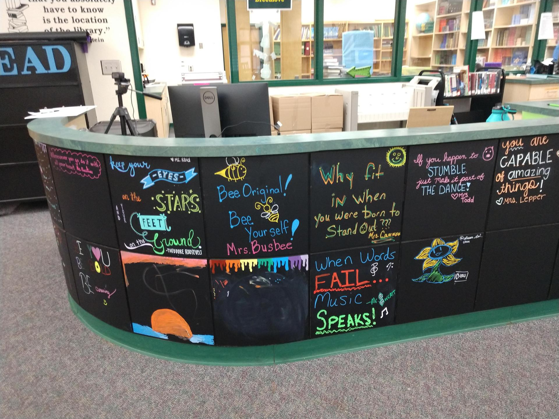 circulation desk art