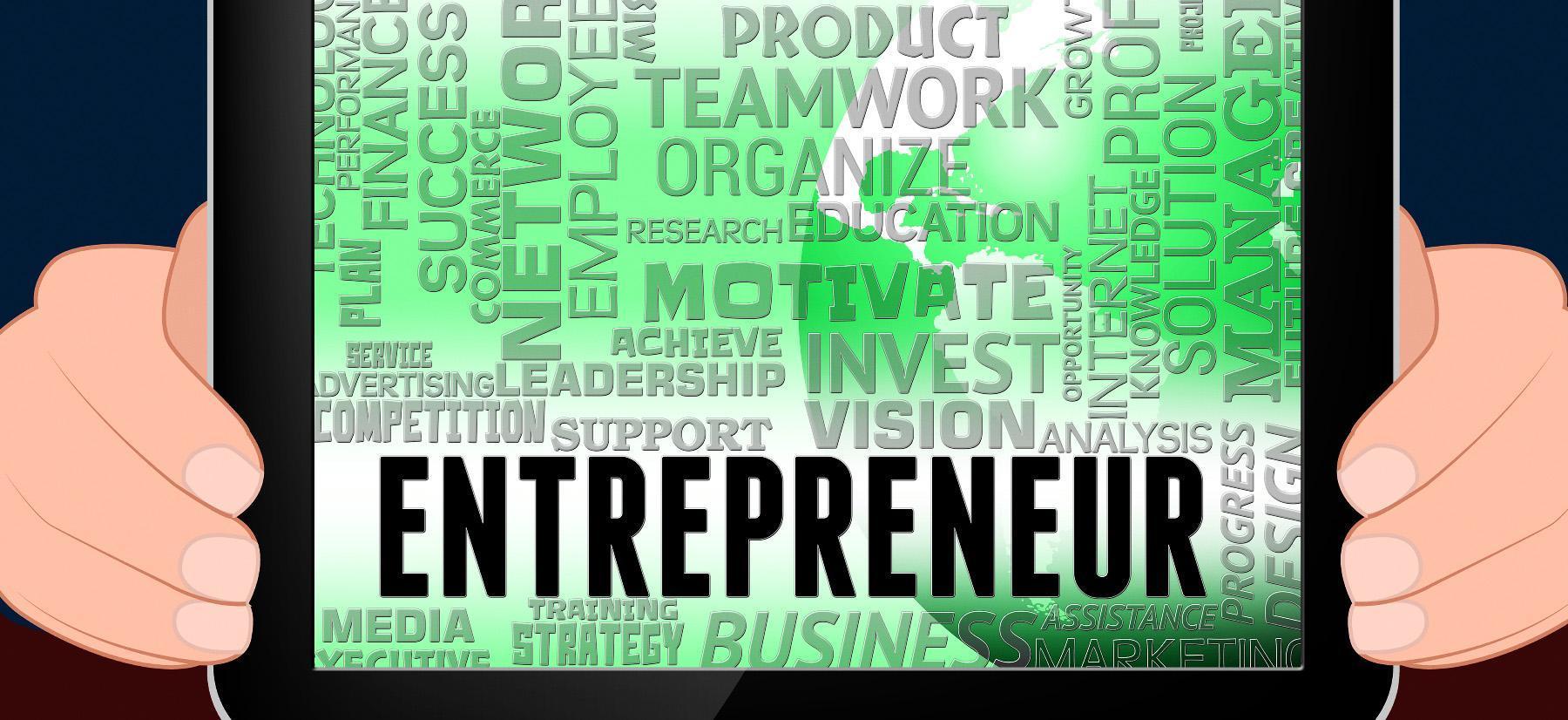Entrepreneurial word cloud