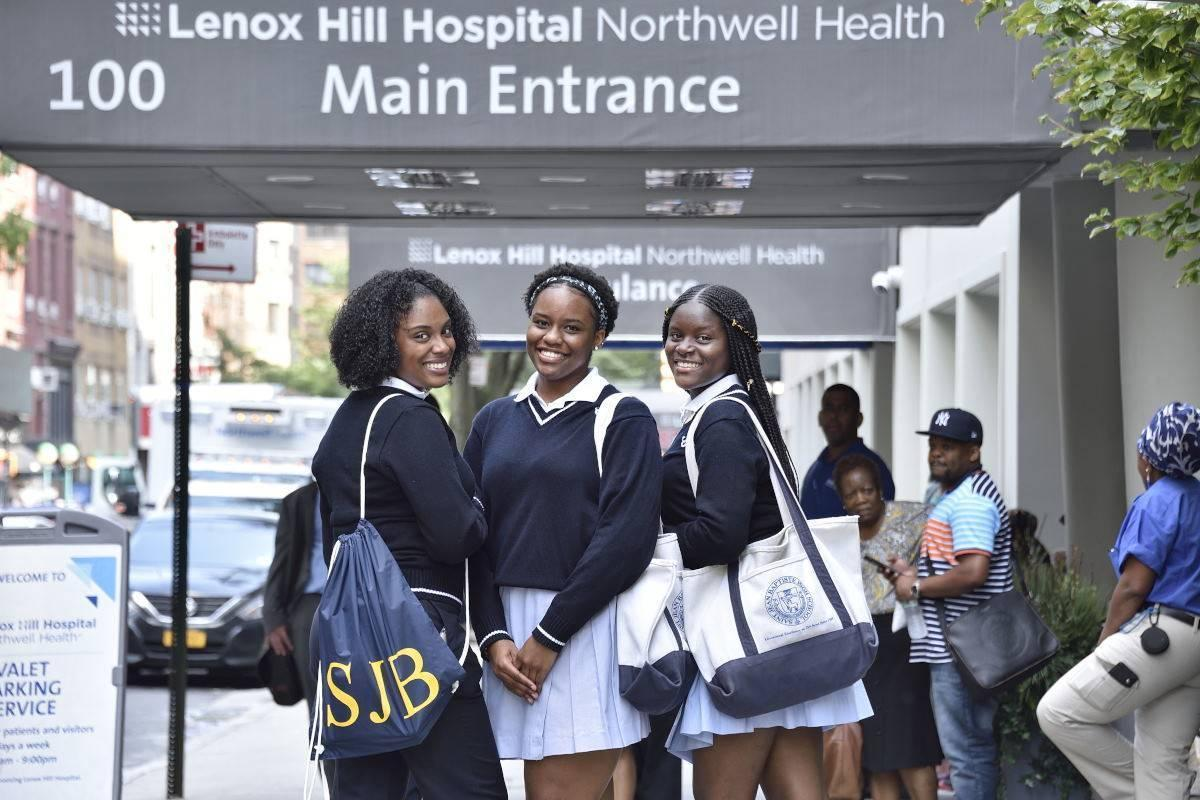 SJB Girls intern at Lenox Hill