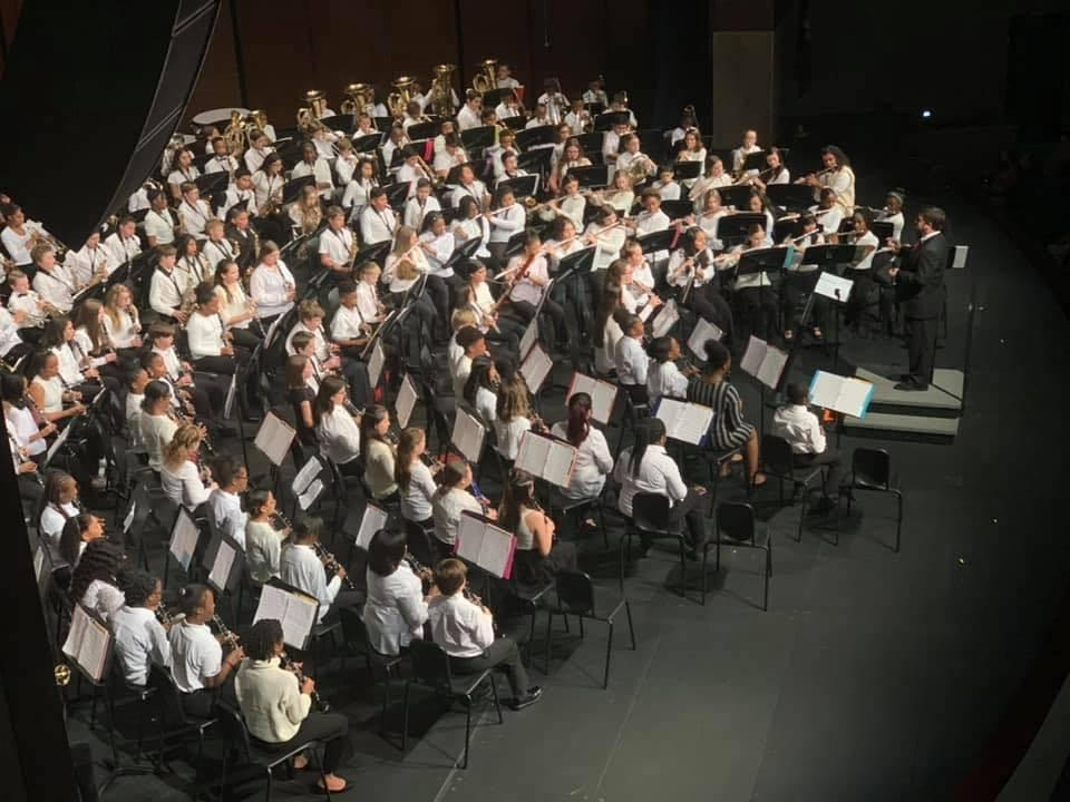 Large Concert Band with Conductor