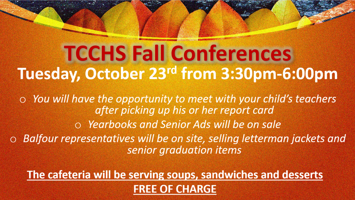 Fall Conferences Tuesday, October 23 3:30-6:00pm Featured Photo