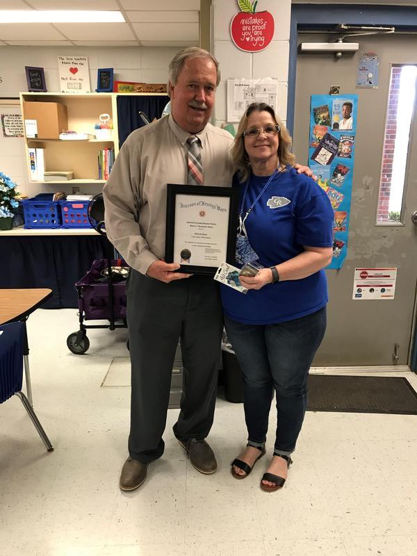 Debbie Dolan and Superintendent Steve Benton