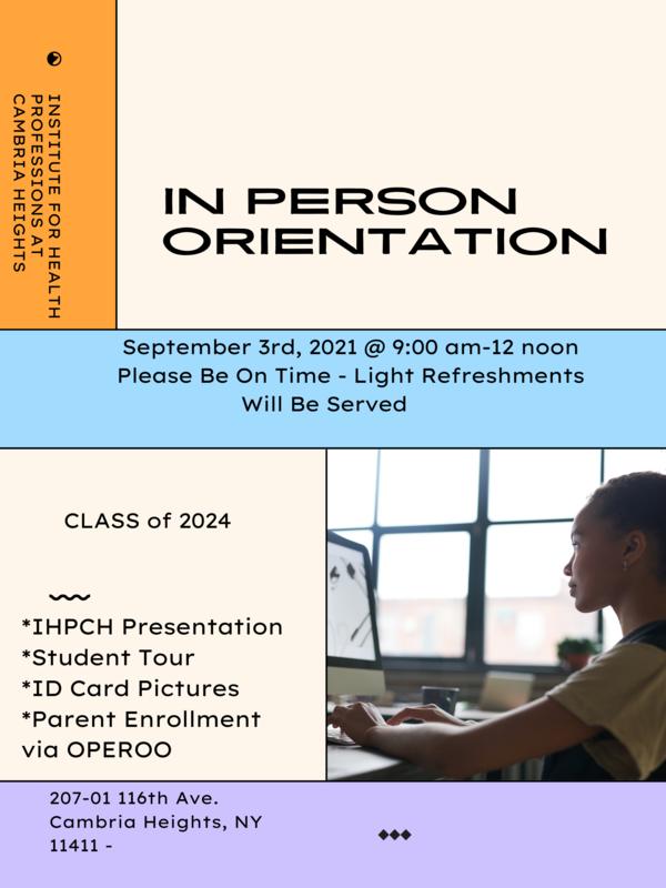 Student Orientation Information