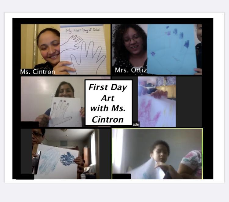 Students and teachers drawings