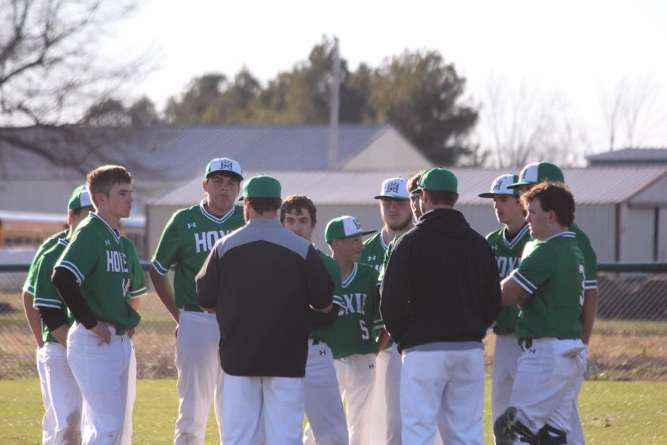 Baseball Huddle Photo