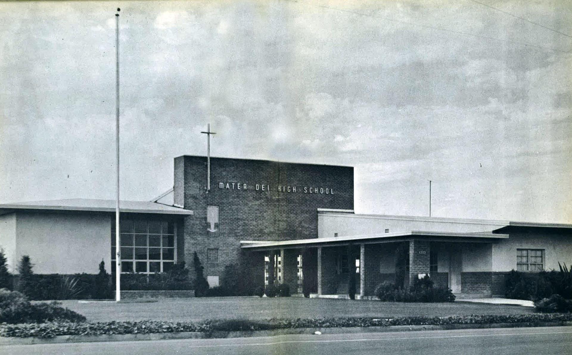 front of school 1950