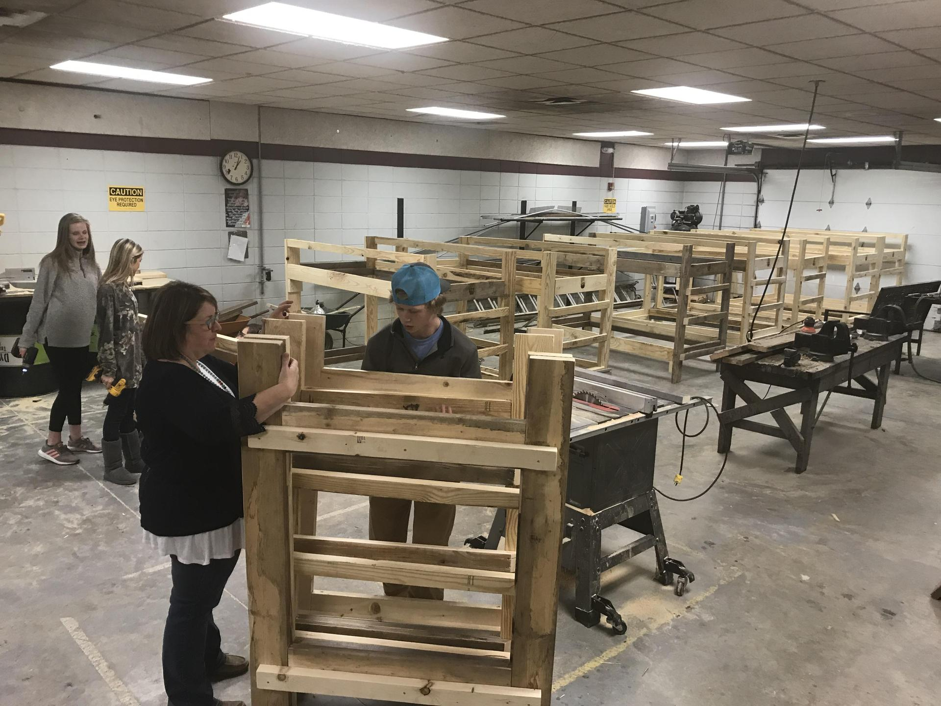 Community Service CHS Bed Building Project