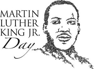 Martin Luther King black and white image