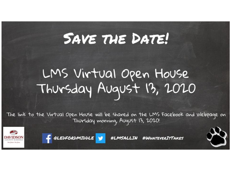 Save the Date: Virtual Open House