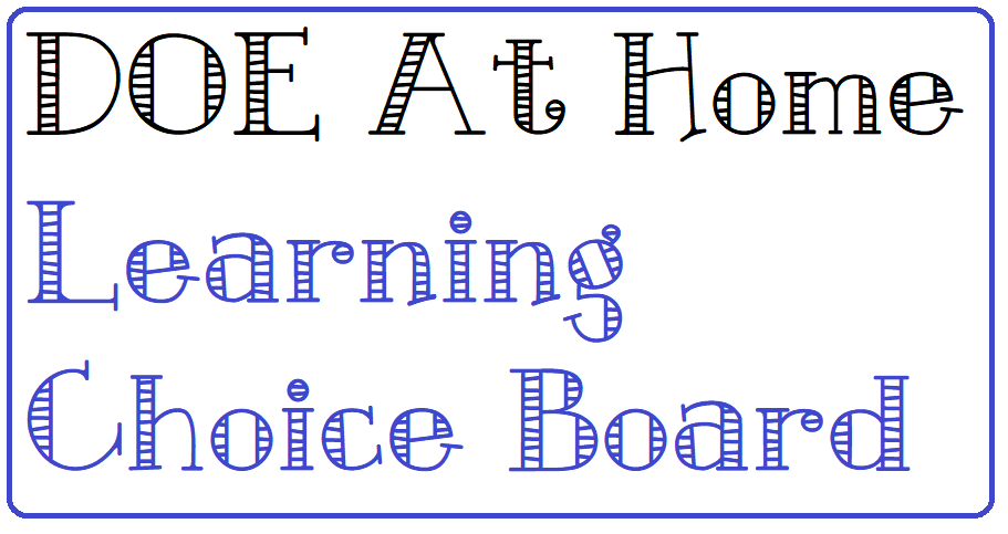 DOE Choice Board