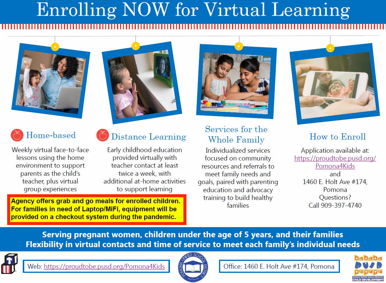 Enrolling NOW for Virtual Learning