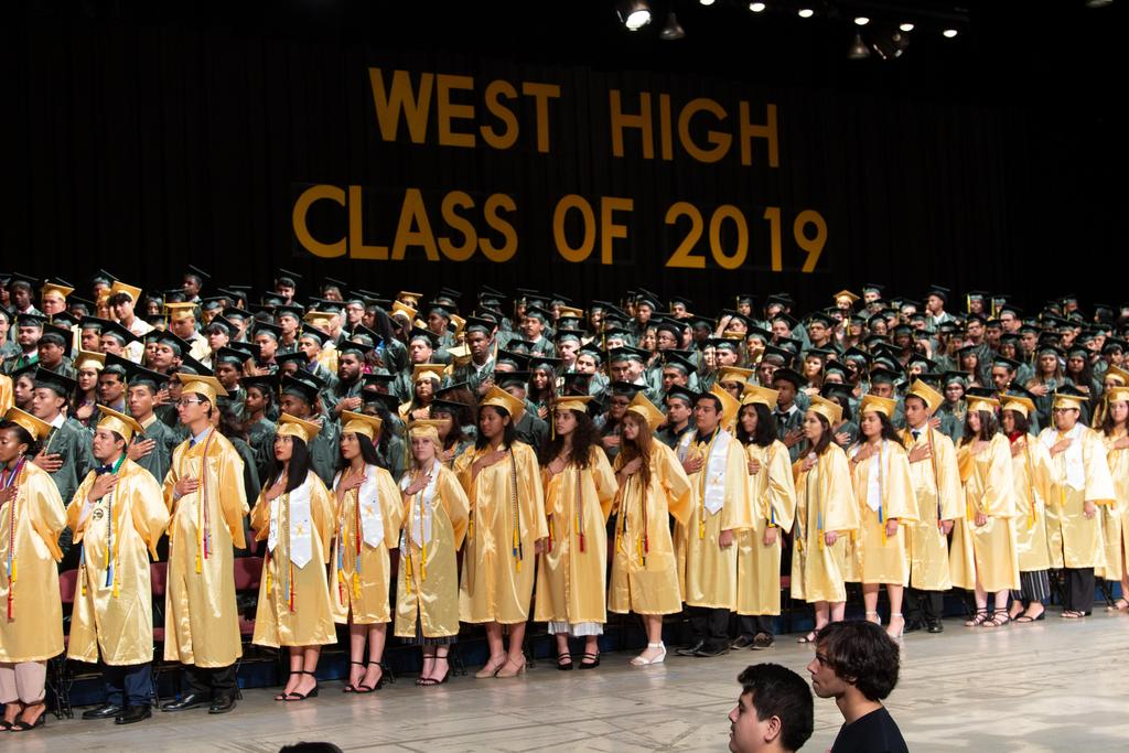 West High School graduation