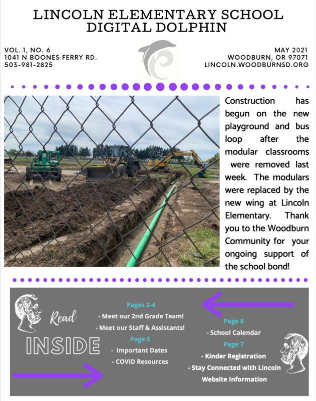 The Digital Dolphin - Lincoln Elementary Monthly Newsletter – May Featured Photo