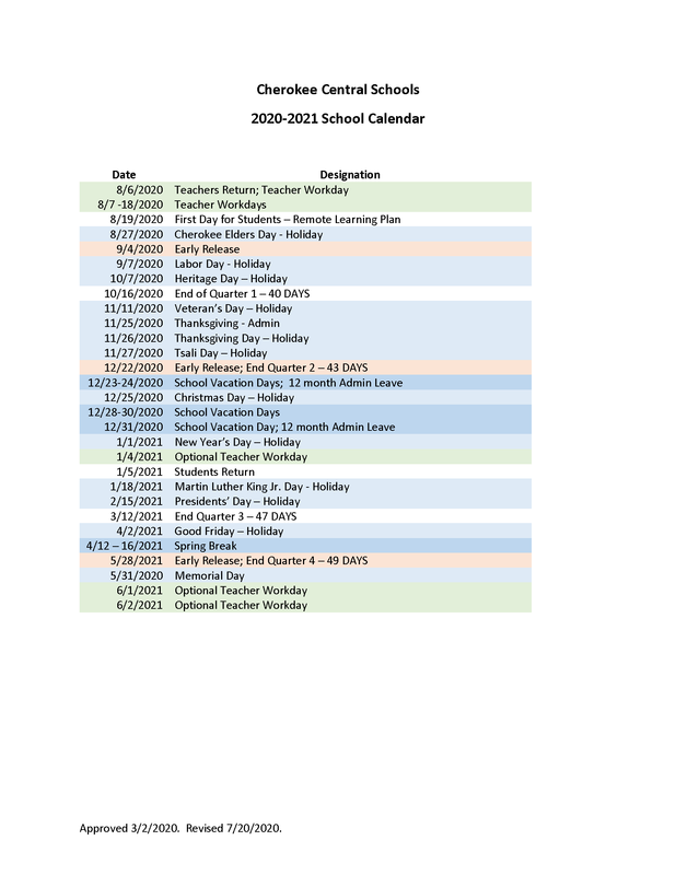 2020-2021 School Calendar_Revised_7_20_20