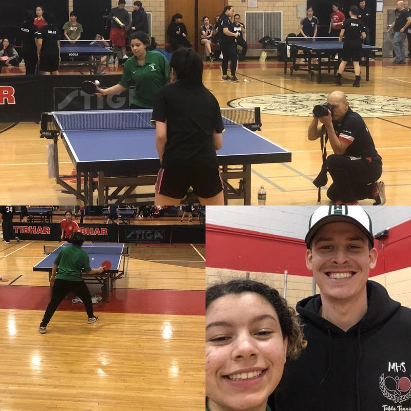 Table Tennis Junior Represents Maspeth High School @ PSAL Individual Championship Featured Photo
