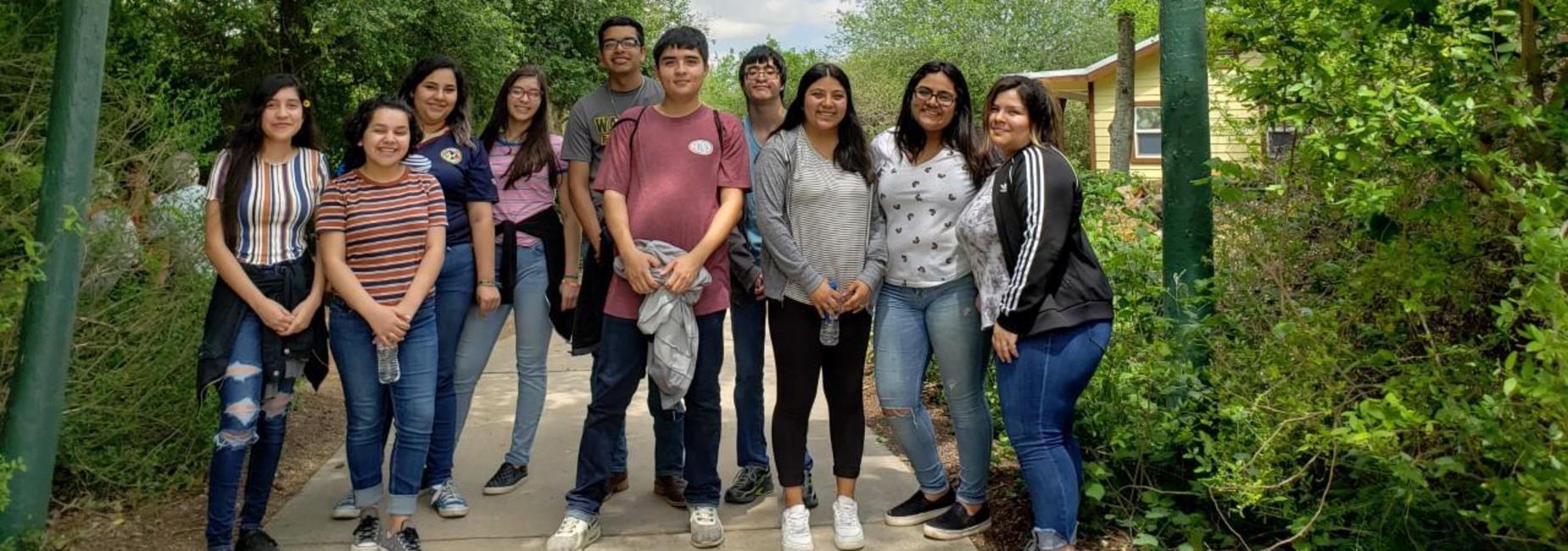 Lamar students at World Birding Center