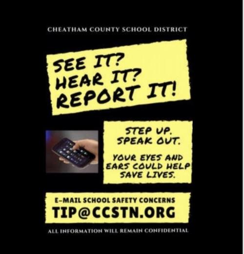 Email school safety concerns to tip@ccstn.org