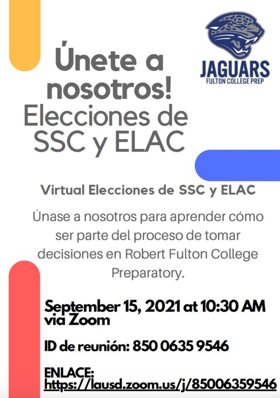 Virtual Elecciones de SSC y ELAC (SSC & ELAC Virtual Elections) Featured Photo
