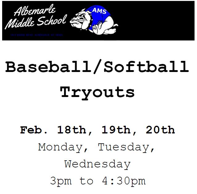 Baseball/Softball Tryouts Featured Photo