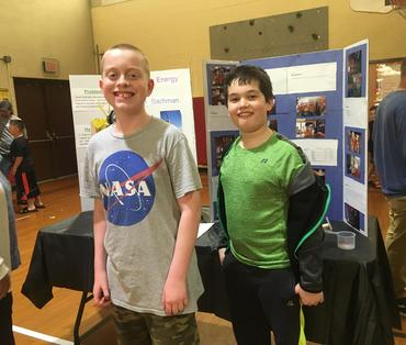 Kole and JJ at Science Fair