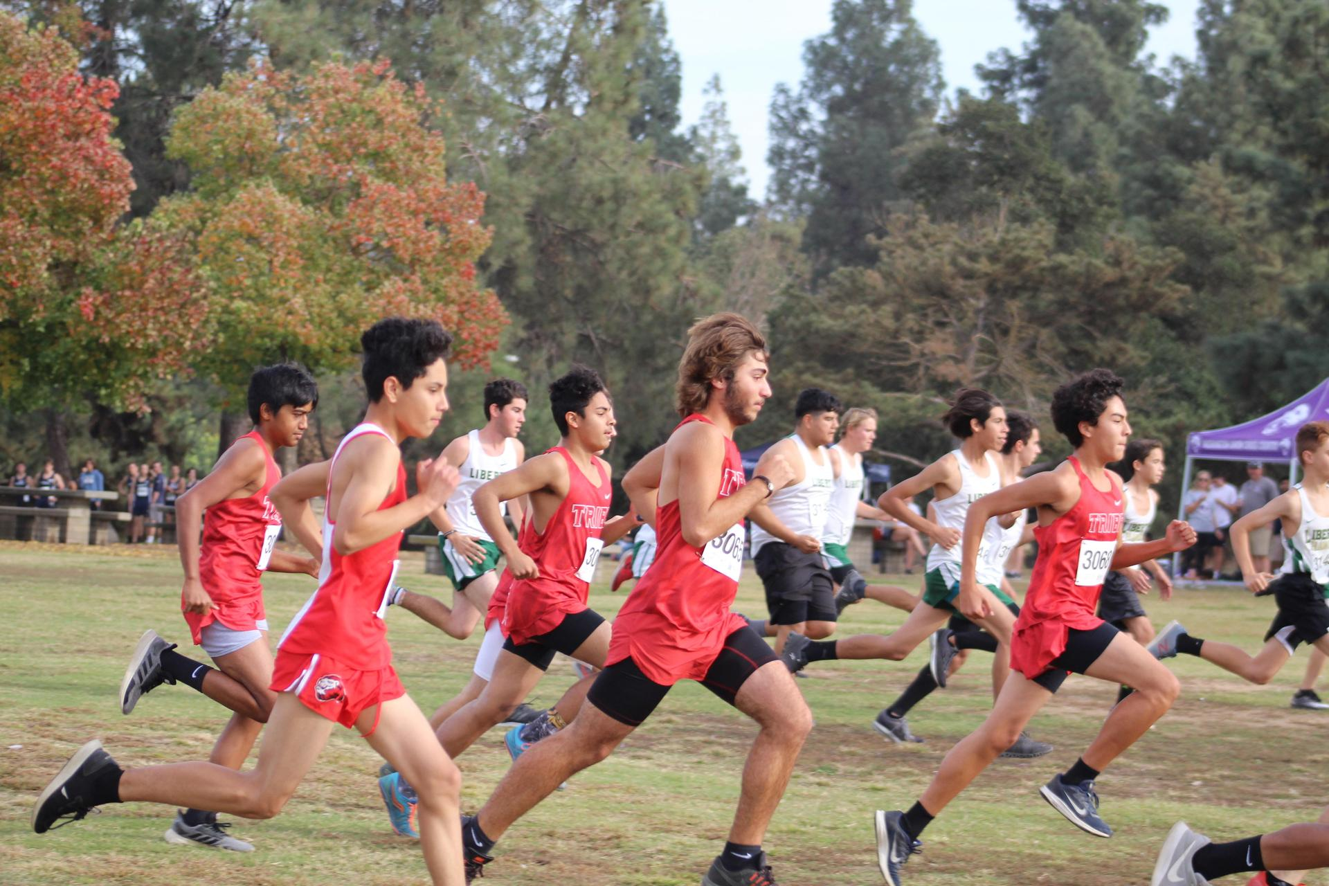 Boys beginning the race