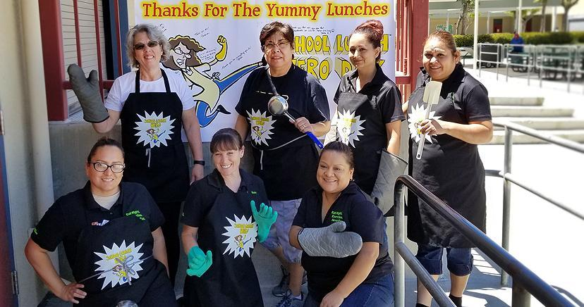 Canyon Lake MS School Lunch Heroes Day 2018