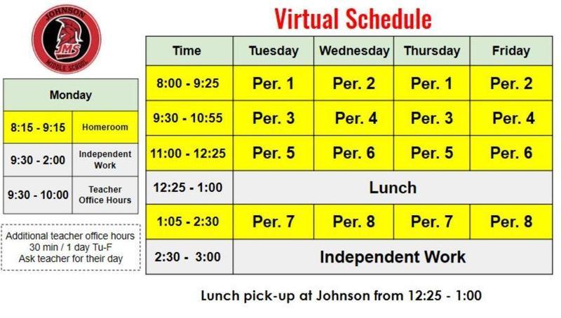 bell schedule grid