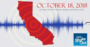 The Great California ShakeOut drill is on Thursday, October 18, at 10:18 a.m. ALL LEUSD schools and district workplaces will participate.
