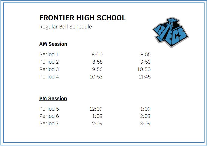 sierra high school bell schedule