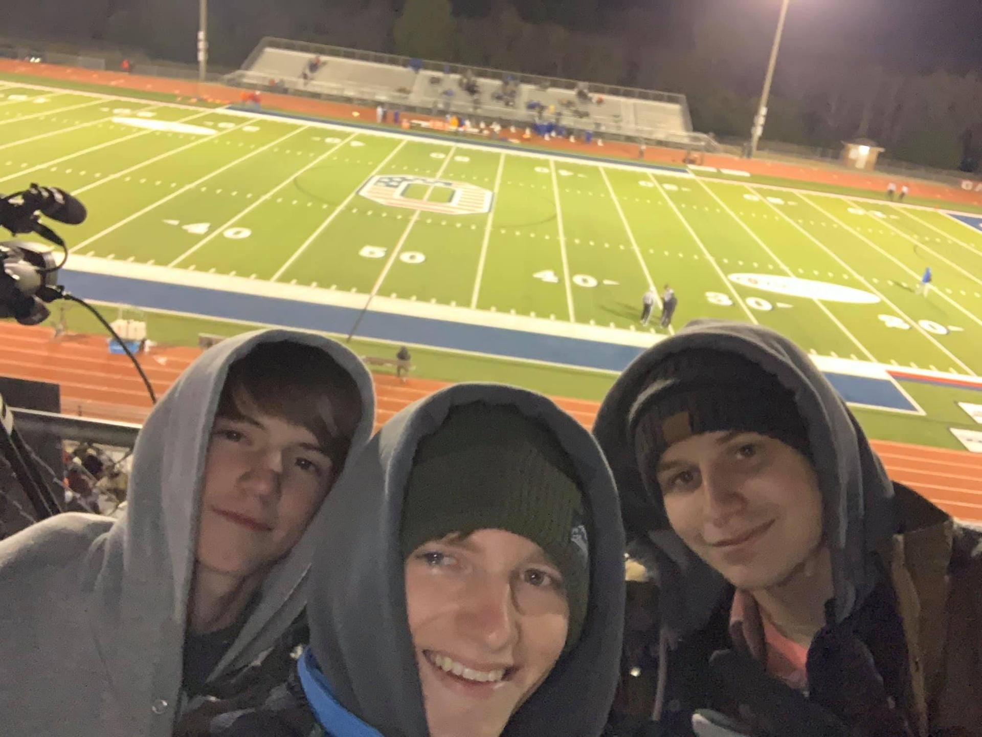 MCHS Broadcast Team Films Oakland Game for NFHS