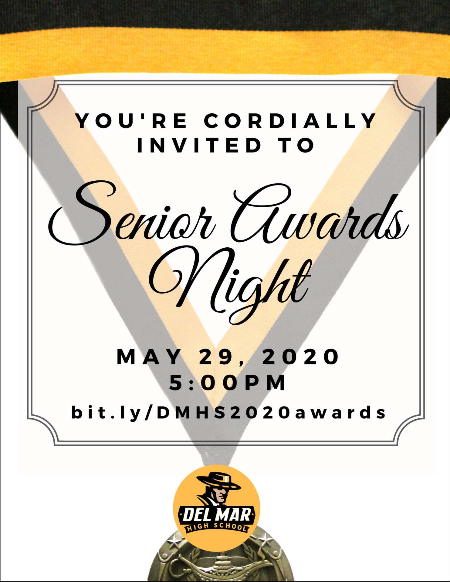 image of senior awards night invite