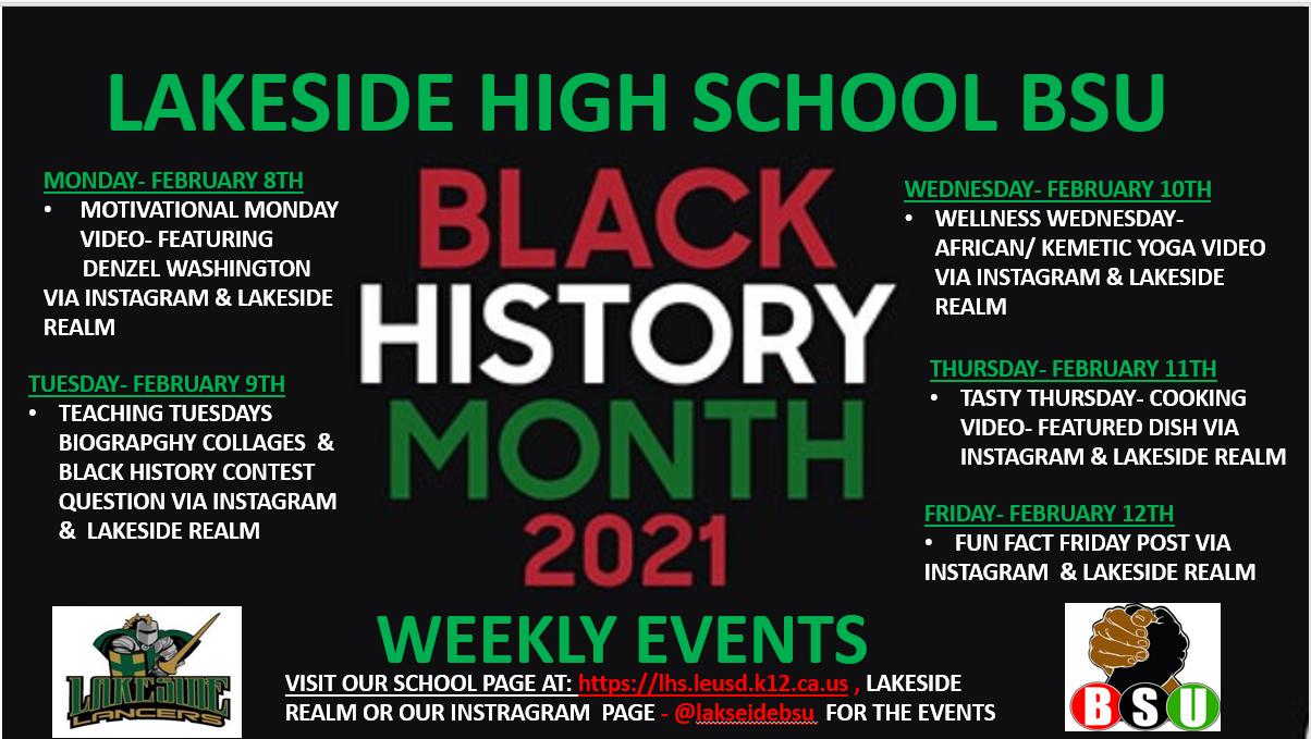 BLACK HISTORY MONTH WEEK 2
