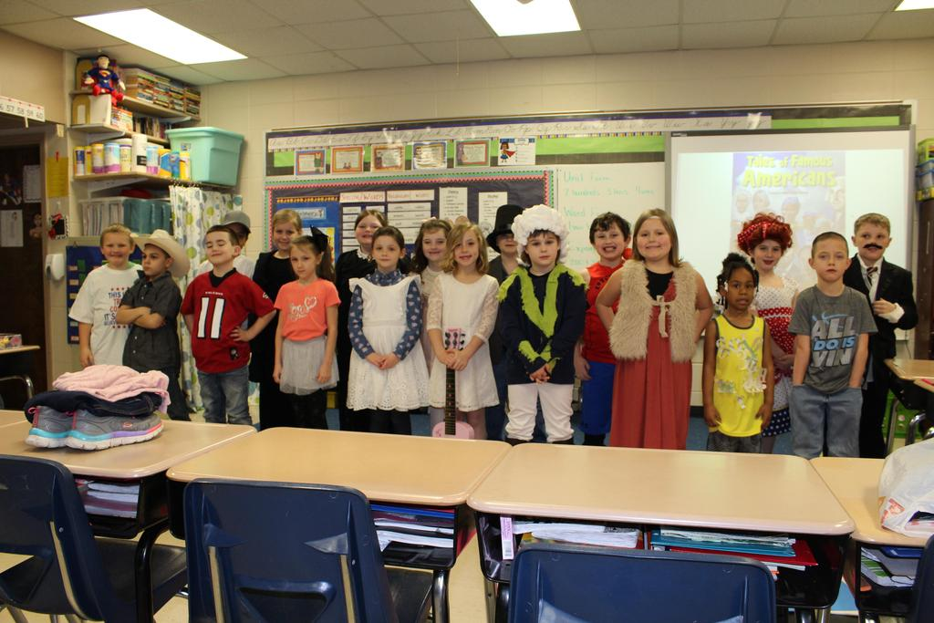 Students dressed as Famous Americans