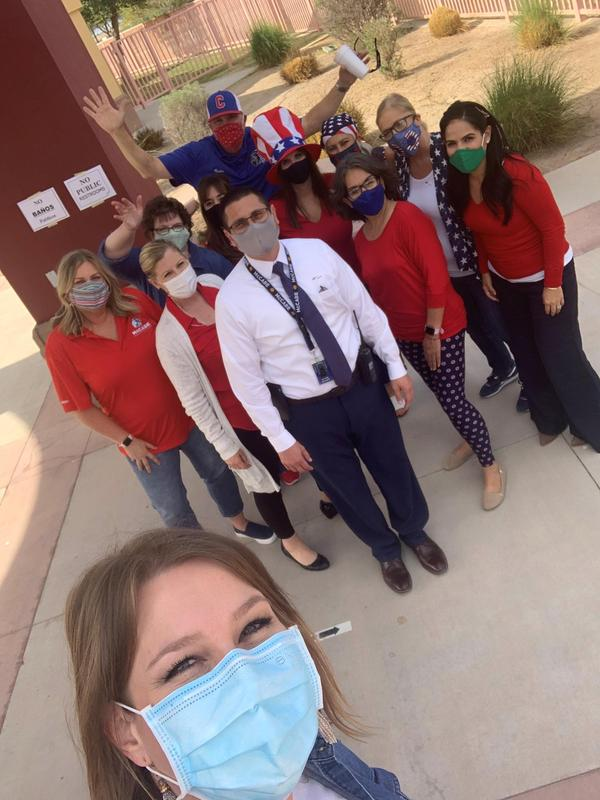 McCabe Staff and Students Wear Red/White/Blue for Election Day! Thumbnail Image