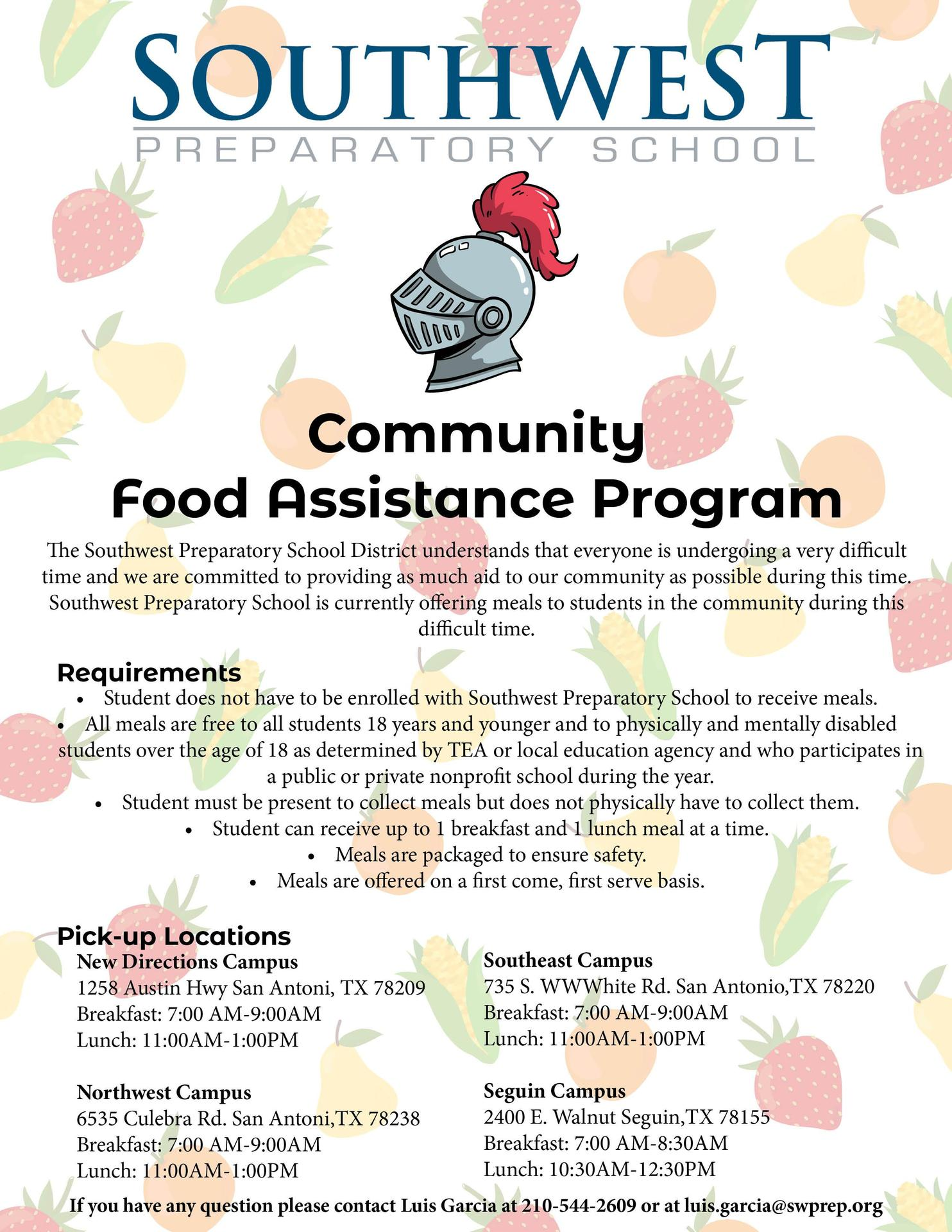Free Meals To Students In The Community