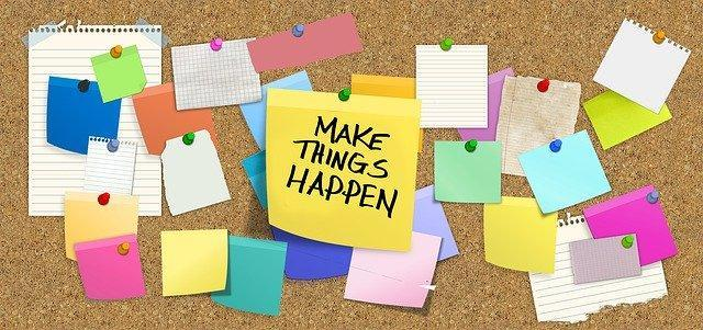 Make things happen sticky notes