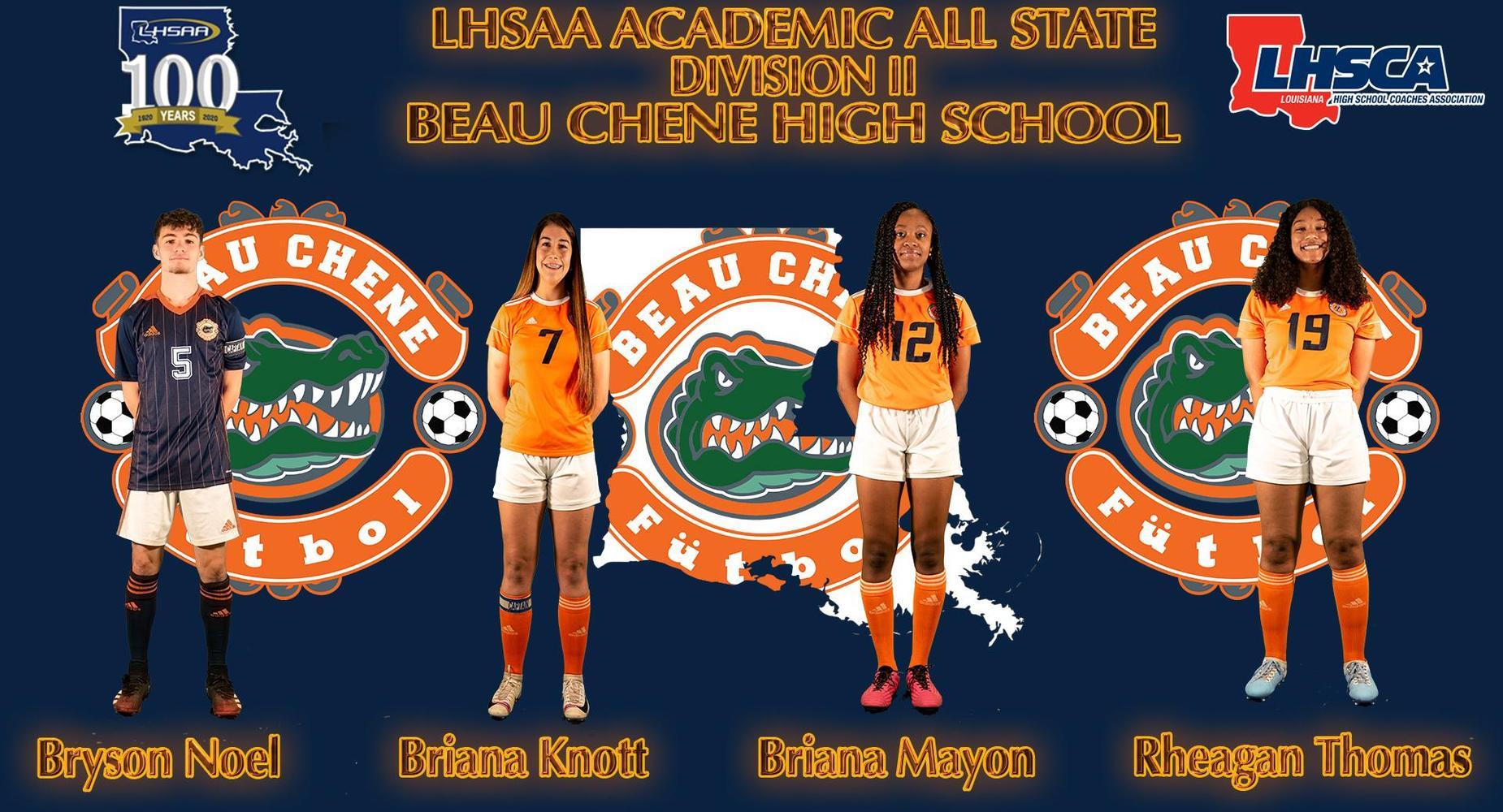 LHSAA Academic All State Division II - Bryson Noel, Brianna Knott, Briana Mayon & Rheagan Thomas