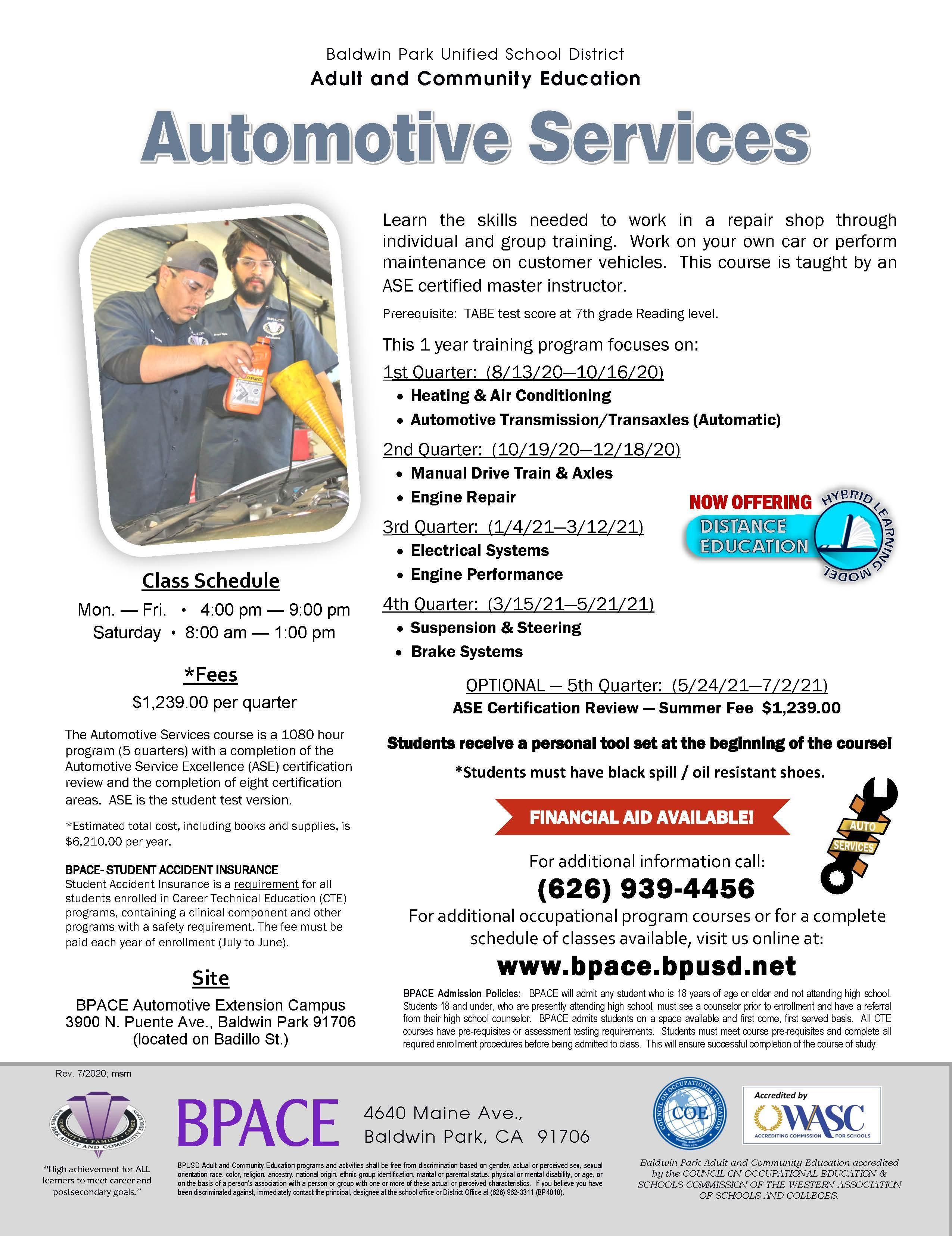 Automotive Services Flyer